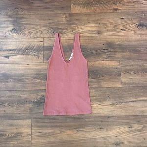 ✨NWT Express Rose Ribbed Tank Size XS